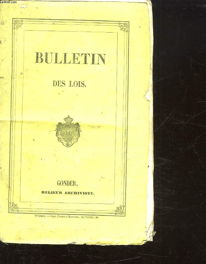 BULLETIN DES LOIS DE LA REPUBLIQUE FRANCAISE N° 477 - 486
