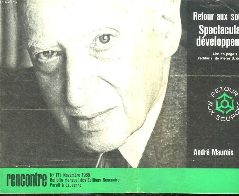 RENCONTRE N° 171 NOVEMBRE 1968. SOMMAIRE: LES BOURBONS D ESPAGNE, ROBERT KENNEDY, ATLAS DES VOYAGE: L ECOSSE...