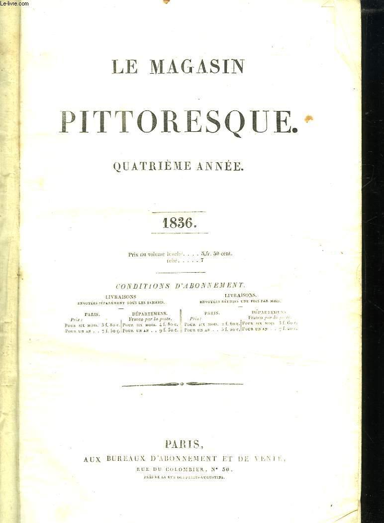 LE MAGASIN PITTORESQUE QUATRIEME ANNEE. 1836.