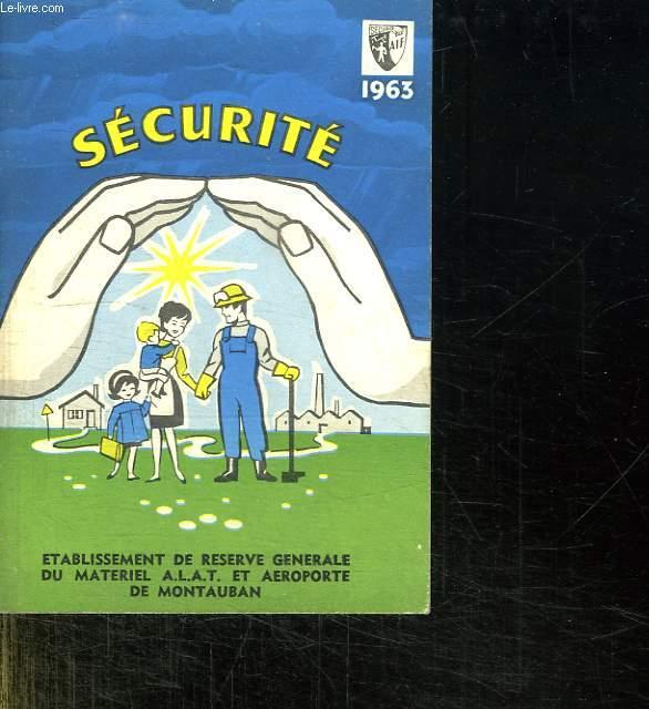 ALMANACH DE SECURITE 1963.
