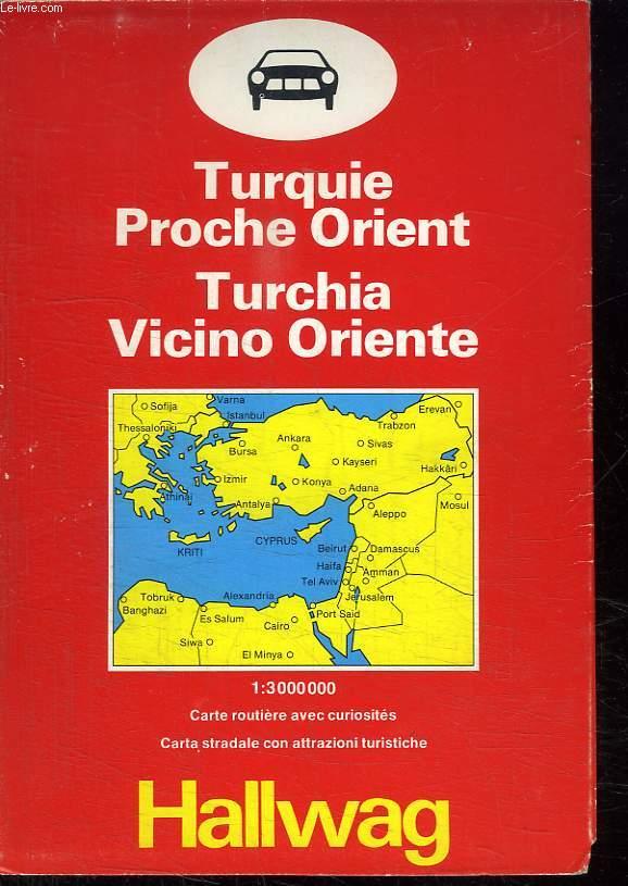 CARTE TURQUIE PROCHE ORIENT. ECHELLE 1 / 3000000.