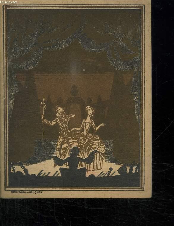 THEATRE NATIONAL DE L OPERA COMIQUE SAISON 1929 - 1930. LA VIE DE BOHEME PAILLASSE. DIMANCHE 2 FEVRIER 1930