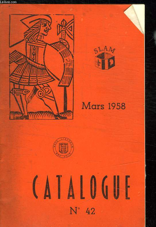 CATALOGUE N° 41 ET 42 FEVRIER MARS 1958.