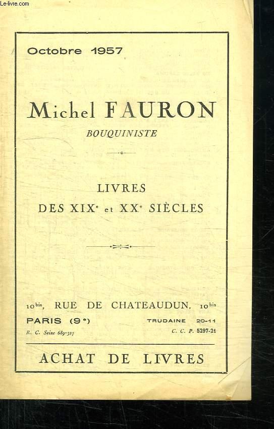 LOT DE 15 CATALOGUE DIVERS DES LIBRAIRIES COULET ET FAURE, FAURON MICHEL, PLANACASSAGNE MARCEL...