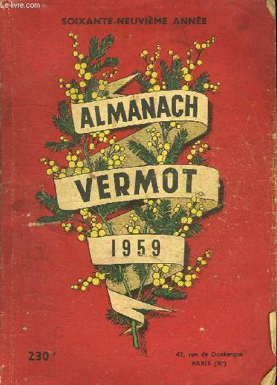 ALMANACH VERMOT 1959.