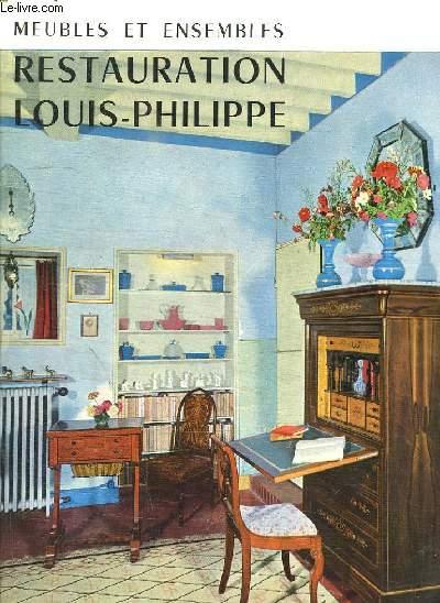 MEUBLES ET ENSEMBLES RESTAURATION LOUIS PHILIPPE.