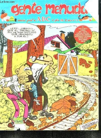 GENTE MENUDA N° 34 DU 8 JULIO 1990 . TEXTE EN ESPAGNOL.