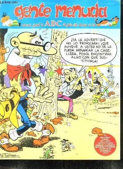 GENTE MENUDA N° 35 DU 15 JULIO 1990 . TEXTE EN ESPAGNOL.
