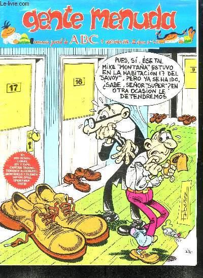 GENTE MENUDA N° 43 DU 9 SEPTIEMBRE 1990 . TEXTE EN ESPAGNOL.