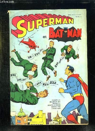 SUPERMAN ET BAT MAN N° 5 1968.