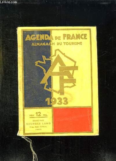 AGENDA DE FRANCE. ALAMANACH DU TOURISME. 1933.