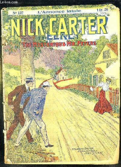 NICK CARTER N° 137. L ANNONCE FATALE.