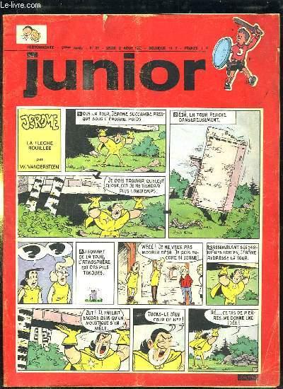 JUNIOR N° 31 DU JEUDI 2 AOUT 1970. JEROME LA FLECHE ROUILLEE PAR VANDERSTEEN W.