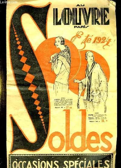 CATALOGUE. AU LOUVRE. ETE 1924. SOLDES.