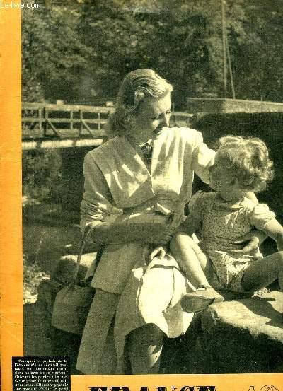 FRANCE 1947 LE MAGAZINE MODERNE DE LA FAMILLE N° 8 DU 8 JUIN. SOMMAIRE: L AVENIR DU MONDE EST A COTE DES MERES,  LE FANTOME DE LA HAUTE SOLITUDE, ECRIVAINS ET POETES,  MAMANS DES PETITES FAMILLES...