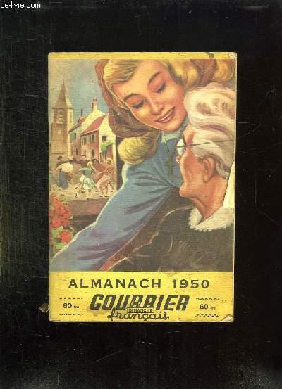 ALMANACH 1950. COURRIER FRANCAIS DIMANCHE.