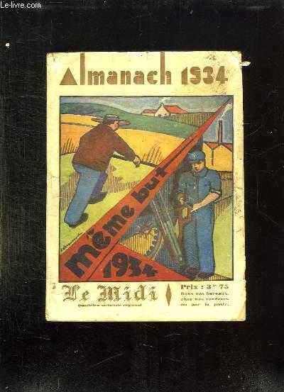 ALMANACH 1934 LE MIDI.