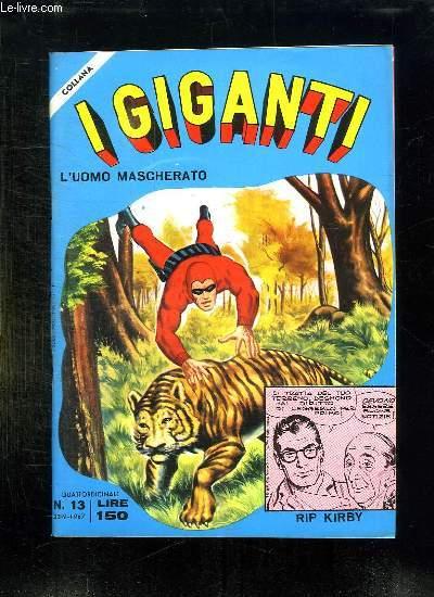 IGIGANTI N° 13. TEXTE EN ITALIEN.
