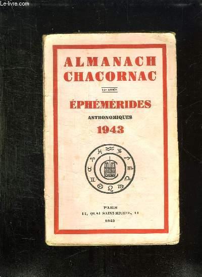 ALMANACH CHACORNAC 11em ANNEE EPHEMERIDES ASTRONOMIQUES 1943.