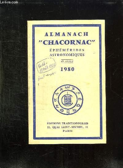 ALMANACH CHACORNAC EPHEMERIDES ASTRONOMIQUES 1980. 47em ANNEE.