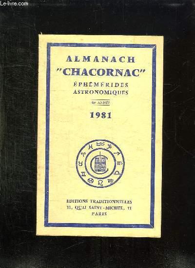 ALMANACH CHACORNAC EPHEMERIDES ASTRONOMIQUES 1981. 48em ANNEE.