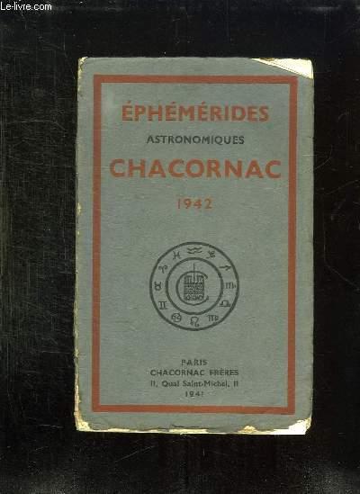 EPHEMERIDES ASTRONOMIQUES CHARCONAC 1942.
