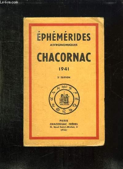 EPHEMERIDES ASTRONOMIQUES CHARCONAC 1941.