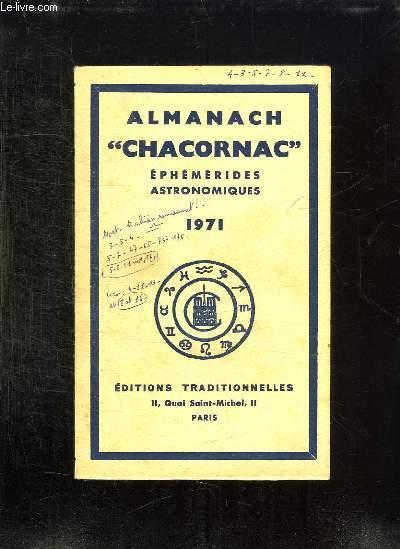 ALMANACH CHACORNAC 1971. EPHEMERIDES ESTRONOMIQUES.