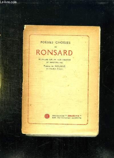 POESIES CHOISIES DE RONSARD.