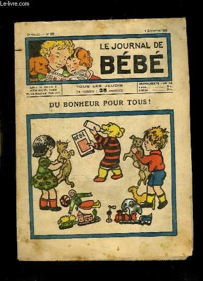LE JOURNAL DE BEBE N° 109 DU 7 DECEMBRE 1933. DU BONHEUR POUR TOUS.
