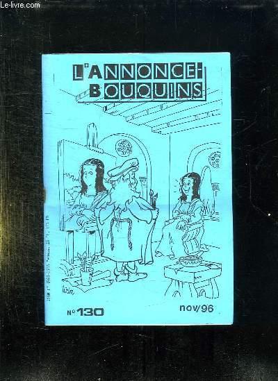 L ANNONCE BOUQUINS N° 130 NOVEMBRE 96.