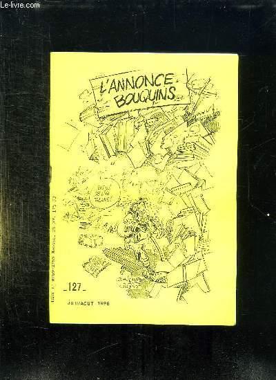 L ANNONCE BOUQUINS N° 127 JUILLET AOUT 1996.