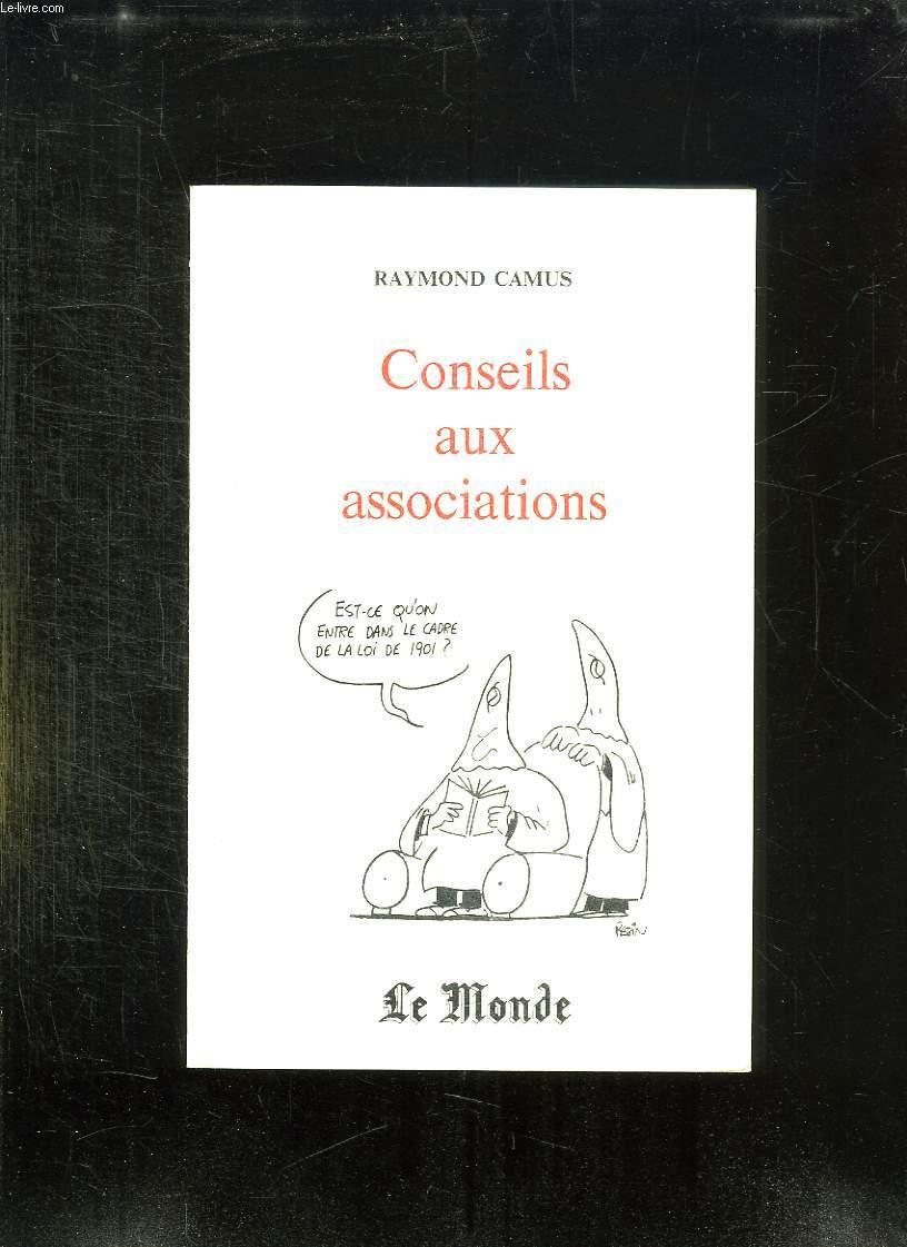 CONSEILS AUX ASSOCIATIONS.