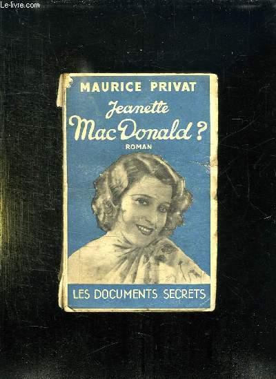 JEANETTE MAC DONALD ?