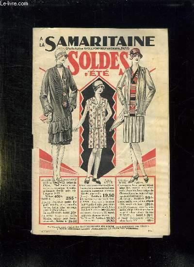 CATALOGUE LA SAMARITAINE SOLDES D ETE.