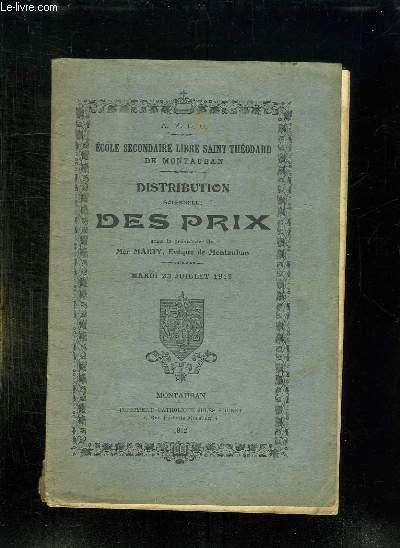 DISTRIBUTION SOLENNELLE DES PRIX SOUS LA PRESIDENCE DE MARTY DU 23 JUILLET 1912.