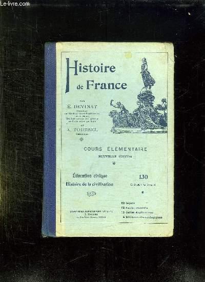 HISTOIRE DE FRANCE. COURS ELEMANTAIRE.
