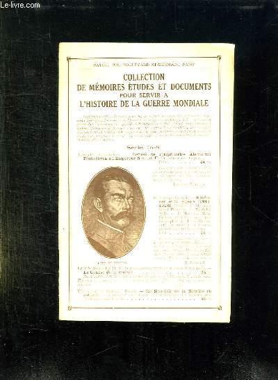 COLLECTION DE MEMOIRES ETUDES ET DOCUMENTS POUR SERVIR A L HISTOIRE DELA GUERRE MONDIALE.