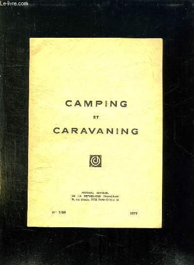 CAMPING ET CARAVANING N° 1189 1979.