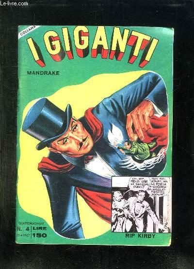 IGIGANTI N° 4 DU 23 AVRIL 1967. TEXTE EN ITALIEN ET ANGLAIS.