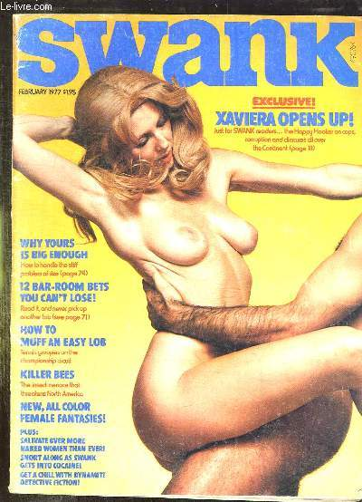 SWANK N° 1 VOLUME 24 FEVRIER 1977. REVUE POUR ADULTES. TEXTE EN ANGLAIS. SOMMAIRE: FEMALE FANTASIES, KILLER BEES ARE COMING, THE JUDGE ANS HIS DAUGHTER...