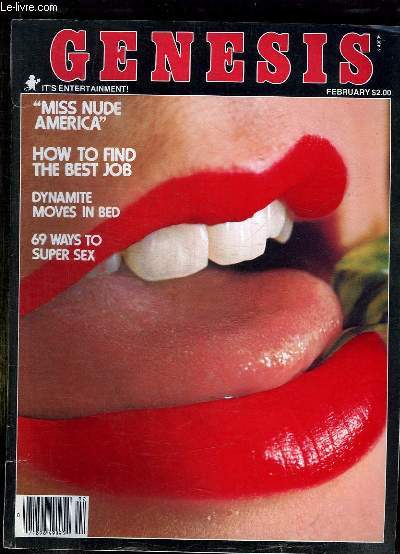GENESIS N° 7 VOLUME 5 FEBRUARY 1978. REVUE POUR ADULTE. TEXTE EN ANGLAIS. SOMMAIRE: PRIVAT CHAMBERS, SECRET SERVICE RACER, MARILYN CHAMBERS, THE FEMALE FLASHER...