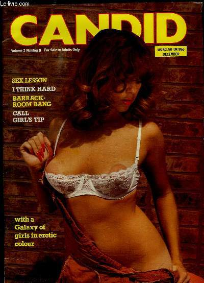 CANDID N° 8 NUMBER 2. REVUE POUR ADULTES. TEXTE EN ANGLAIS. SOMMAIRE: SEX LESSON, BARRACK ROOM BANG, CALL GIRL S TIP...