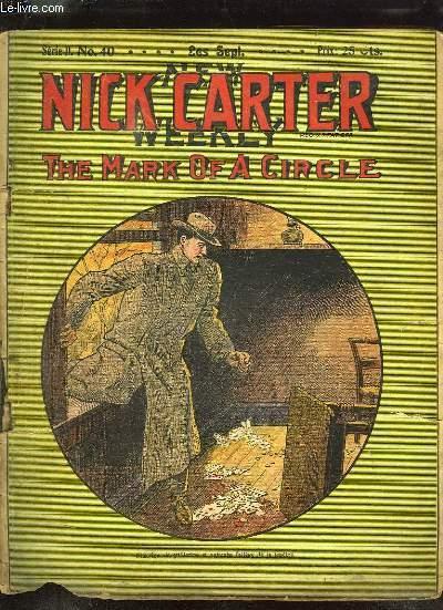 NICK CARTER SERIE II N° 40 THE MARK OF A CIRCLE. TEXTE EN FRANCAIS.