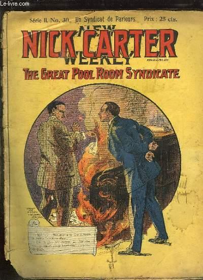 NICK CARTER N° 30 SERIE II. UN SYNDICAT DE PARIEURS.
