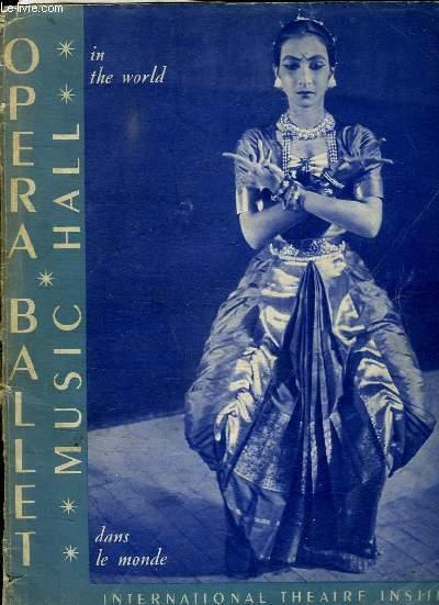 PROGRAMME. OPERA BALLET MUSIC HALL.