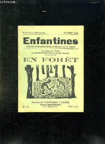 ENFANTINES N° 33 OCTOBRE 1934.EN FORET.
