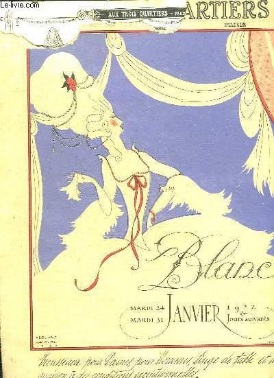 CATALOGUE AUX TROIS QUARTIERS. DU 24 JANVIER AU 31 JANVIER 1922.