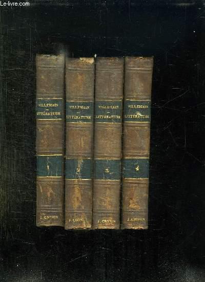 4 TOMES. COURS DE LITTERATURE FRANCAISE. TABLEAU DE LA LITTERATURE AU XVIII SIECLE.
