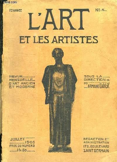 L ART ET LES ARTISTES N° 4 . TOME 1 AVRILSEPTEMBRE.